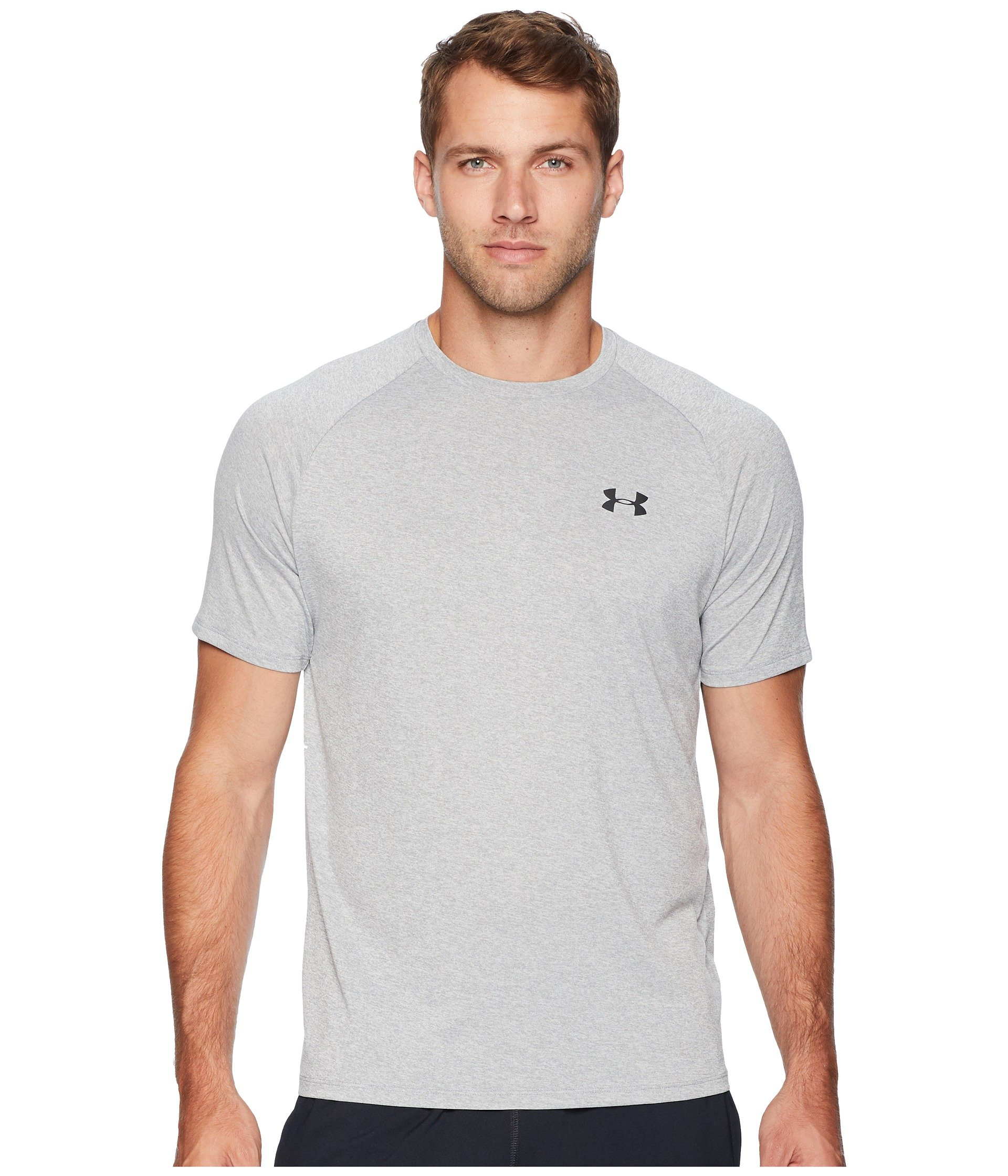 Under Armour Men's UA Tech Short Sleeve Tee Steel Light Heather/Black 4XT by Under Armour