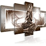 murando Impression sur toile 100x50 cm - 5 pieces - Image sur toile - Images - Photo - Tableau - motif moderne - Décoration - tendu sur chassis - Bouddha 020113-266 100x50 cm