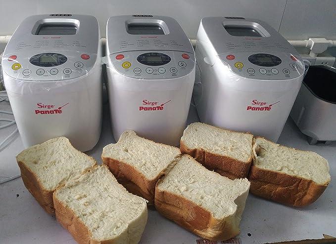 Sirge Panificadora - 850 W, 15 programas -Completamente automática máquina del PAN baguette y Programa sin gluten - Capacidad 1,6 kg - Potencia 850 W 15 ...