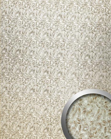 Panel decorativo autoadhesivo de lujo WallFace 17036 DECO FLEUR Decoración floral plateado marrón 2,60