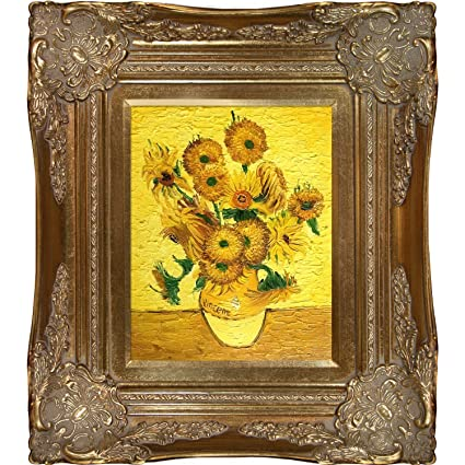 Amazon Overstockart Vase With Fifteen Sunflowers Framed Oil
