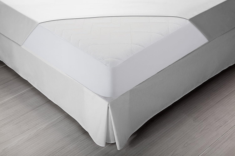 Pikolin Home - Protector de colchón acolchado cubre colchón de fibra antiácaros, transpirable, 150 x 190/200 cm, cama 150 (Todas las medidas): Amazon.es: ...
