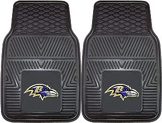 "product image for FANMATS - 8755 NFL Baltimore Ravens Vinyl Heavy Duty Car Mat,Black,18""x27"""