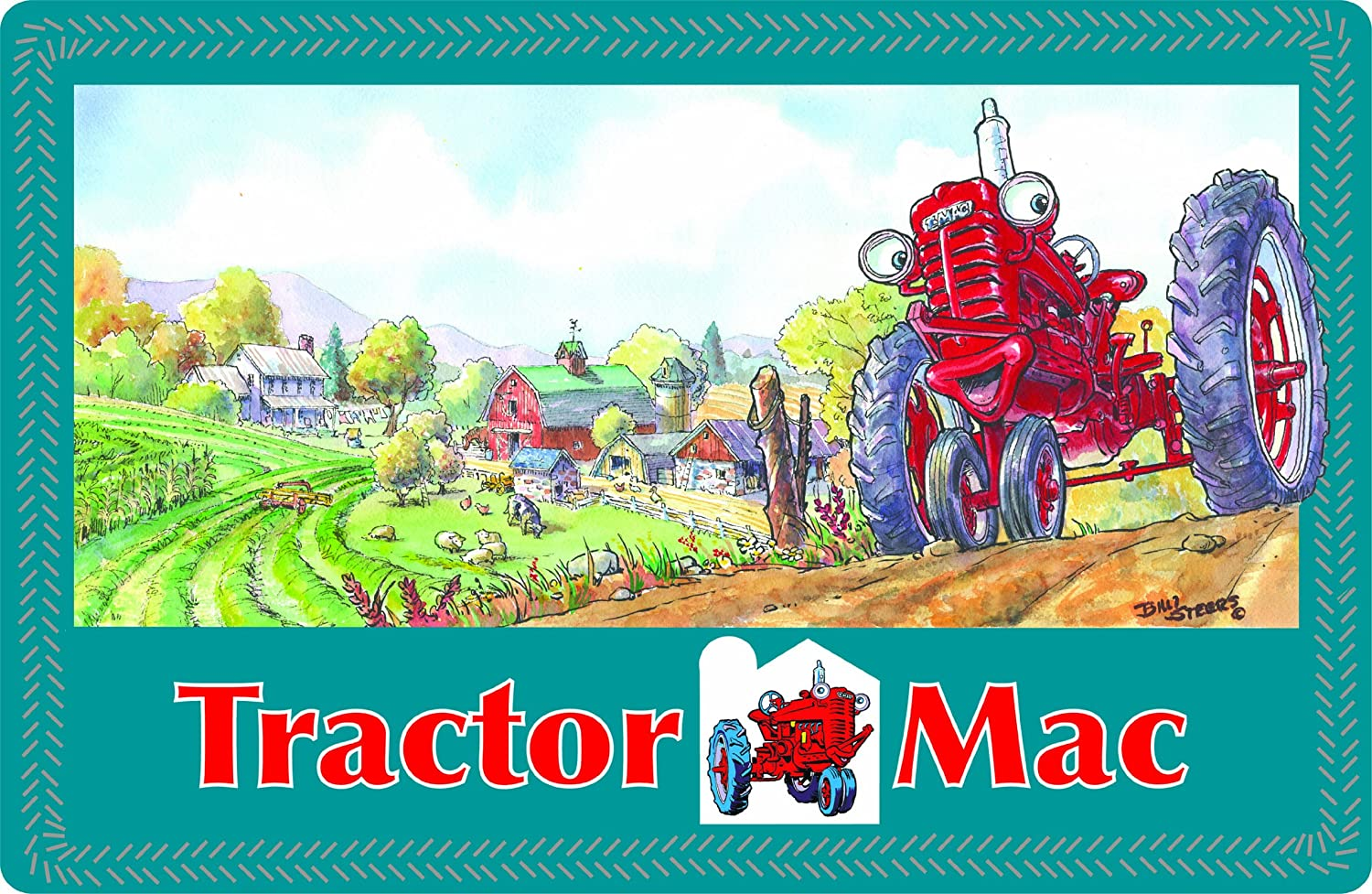 Motorhead Products Tractor Mac Childrens Placemat