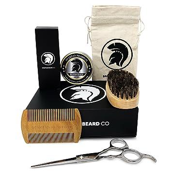 Spartan Beard Co | Beard Grooming U0026 Trimming Kit | Includes Beard Oil, Beard  Balm