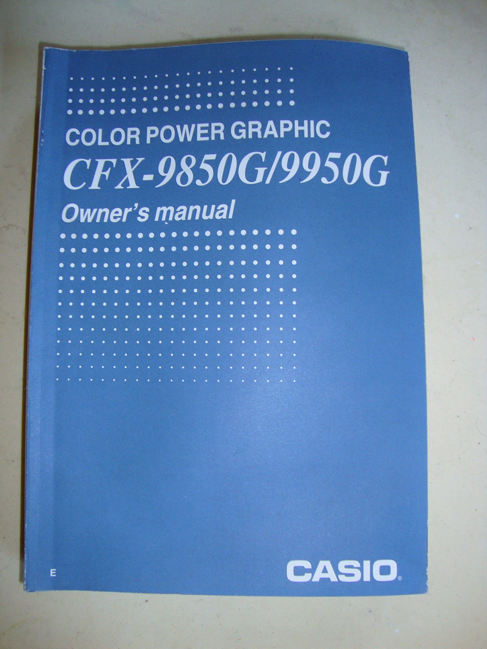 casio manual cfx 9850g
