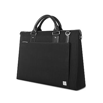 193c73627116a Moshi Urbana Handtasche mit Laptopfach 15 quot  und Abnehmbarem Schultergurt  - Schieferschwarz