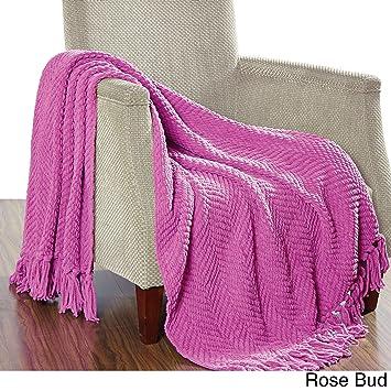 Amazon.com: MISC - Manta de punto acanalada para sofá o cama ...