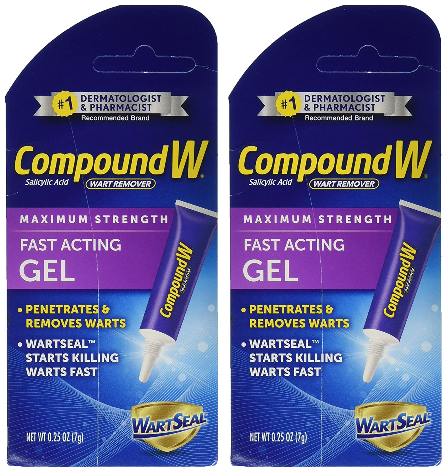 Compound W Wart Remover Fast-Acting Gel, 2 Count