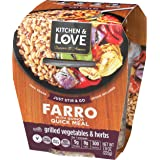 Kitchen & Love Grilled Vegetables & Herbs Farro Meal 6-Pack | Vegan, Ready-to-Eat, No Refrigeration Required