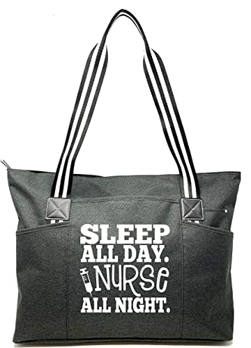 Funny Shoulder I/'m A Nurse What/'s Your Superpower Large Beach Tote Bag