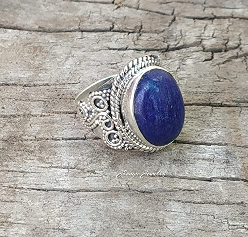 Details about  /925 Sterling Silver Natural Lapis Lazuli Gemstone Ring For Christmas Gift.
