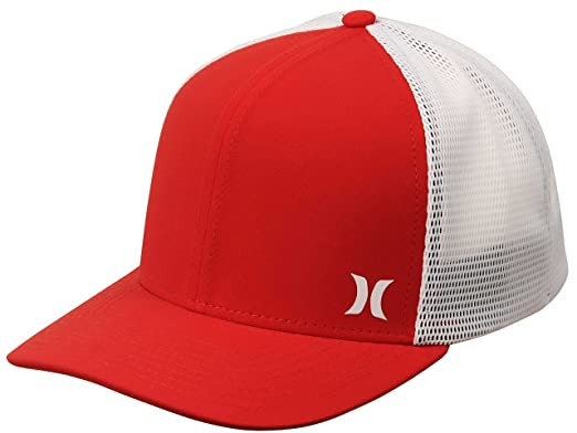 watch 056d4 fa708 official hurley one textures flexfit hat 0dcba 24654  closeout hurley  milner trucker hat gym red white 3f280 e9dfb