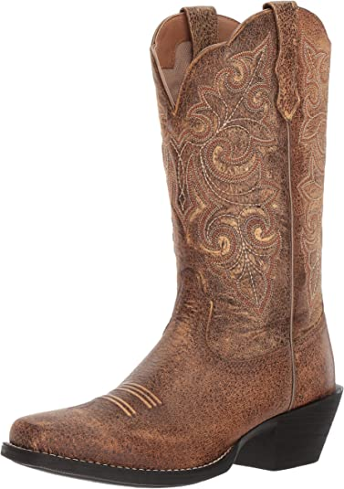 Ariat Womens Round up Square Toe Work Boot