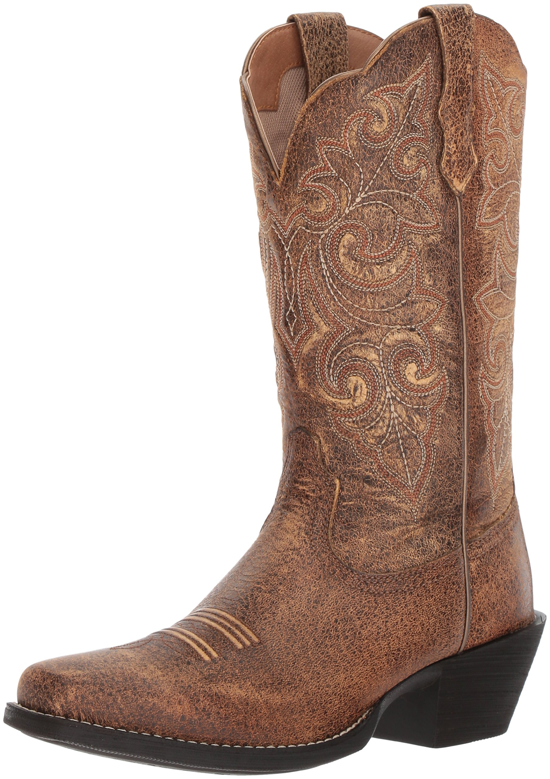 Ariat Women's Round up Square Toe Work Boot, Vintage Bomber, 8 B US