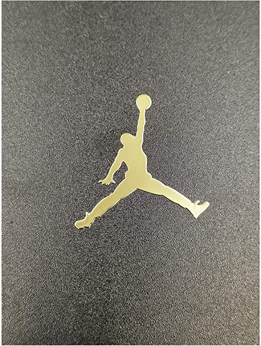 Wallner 2 pcs Metal Adhesive Air Jordan Jumpman Logo Vinyl Sticker Cellphone Laptop case Decal Stickers (Gold, 1.5inch)