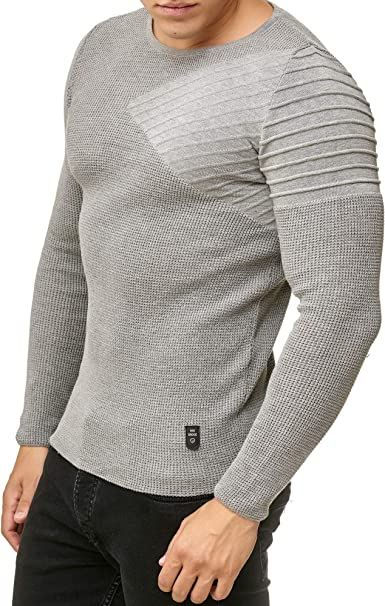 Redbridge Pullover A Maglia Uomo Slim-Fit Basic Felpa Maglia-Maglione Pullover