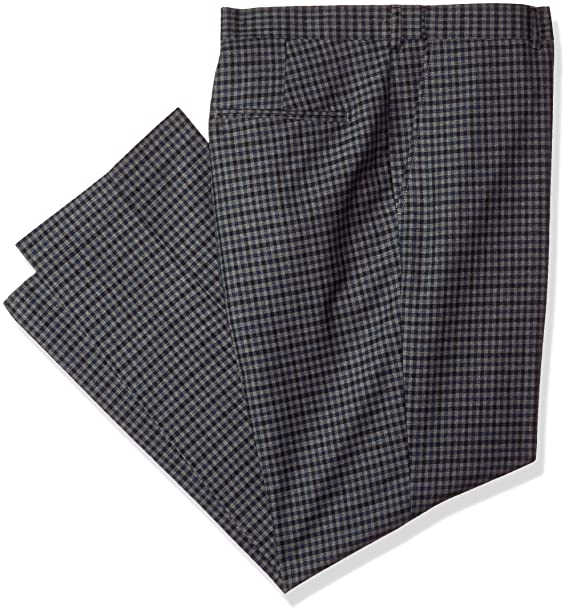 Alexander Julian Colours Mens Big and Tall Big & Tall Flat Front Check Suit Dress Pant W/Adj. Waist