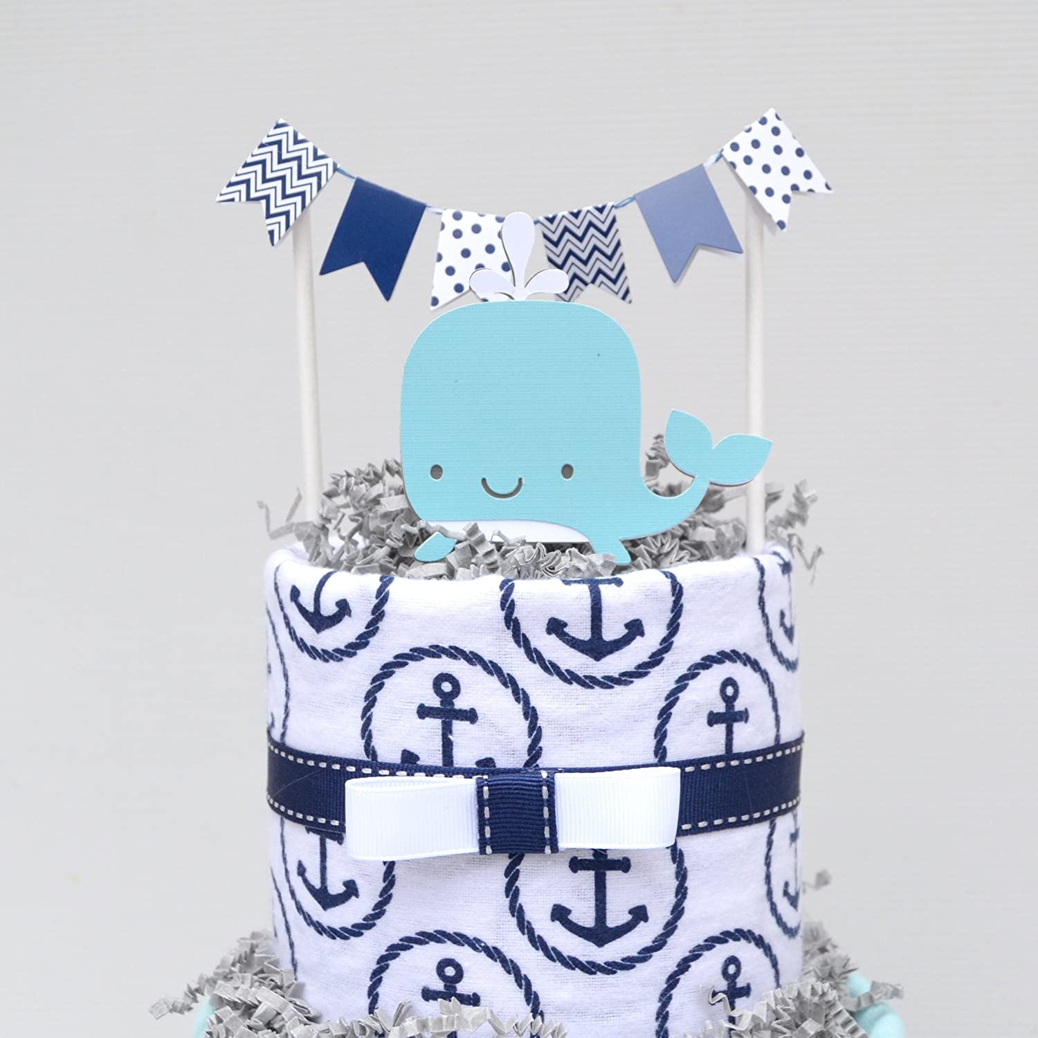 Amazon Whale Diaper Cake for Baby Shower Centerpiece or Baby