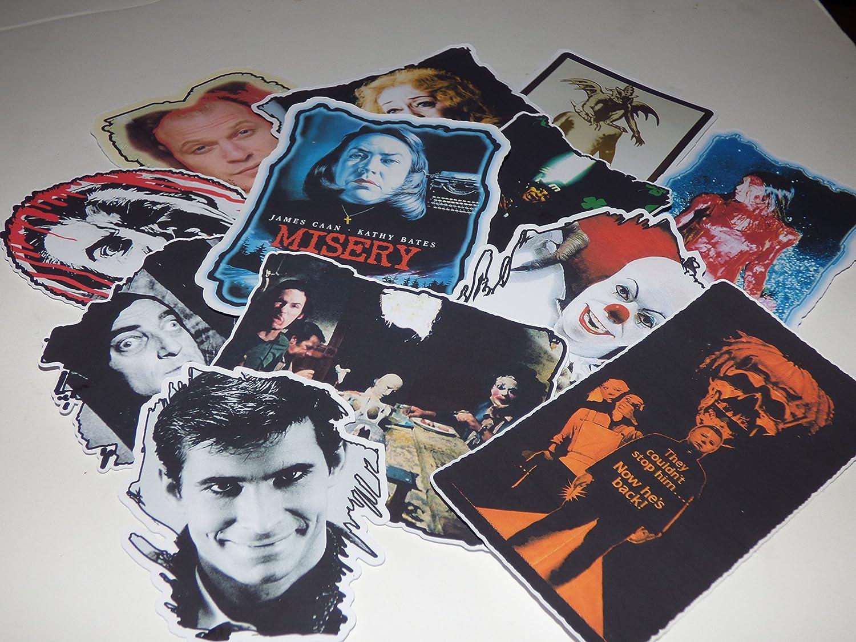 Horror Movie GOONS & Creeps Die Cut Vinyl Stickers Decals Set of 12 Laptop Skateboard Car Refrig Notebook (Complete Set)