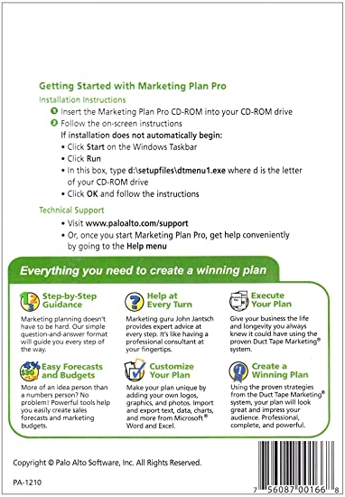 AmazonCom Palo Alto Marketing Plan Pro  Powered By Duct Tape