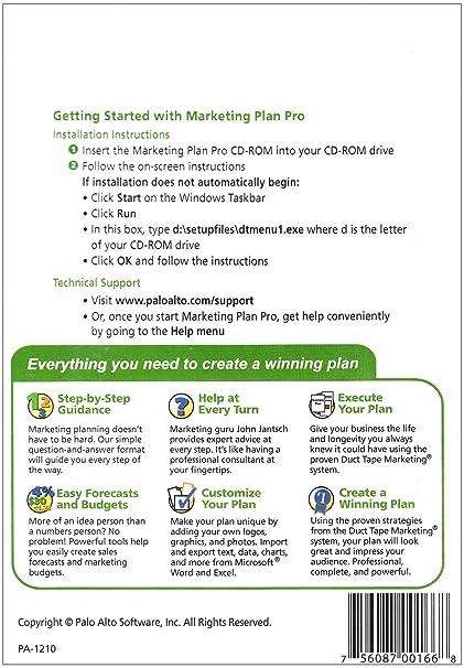 Amazon.com: Palo Alto Marketing Plan Pro 11.0 Powered by Duct Tape ...