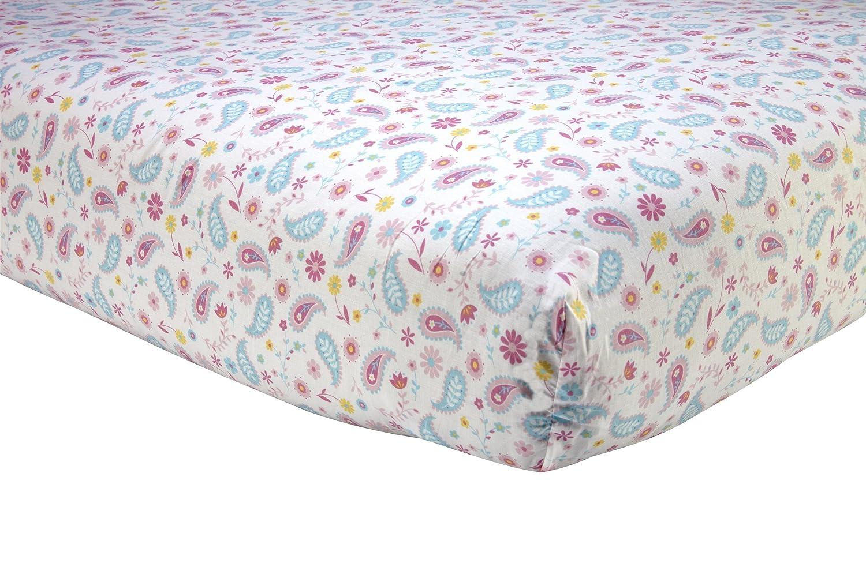 prodigious Paisley Crib Sheets Part - 11: Amazon.com : Sadie u0026 Scout Chelsea - Pink Paisley Print Crib Sheet : Baby