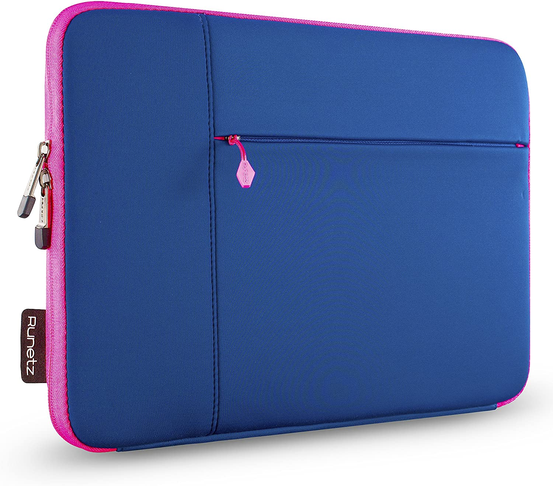 Runetz MacBook Pro 13 inch Sleeve Neoprene MacBook Air 13 inch Sleeve 2017-2012 Laptop Sleeve Notebook Bag Case Cover with Accessory Pocket Older Version Size, Navy