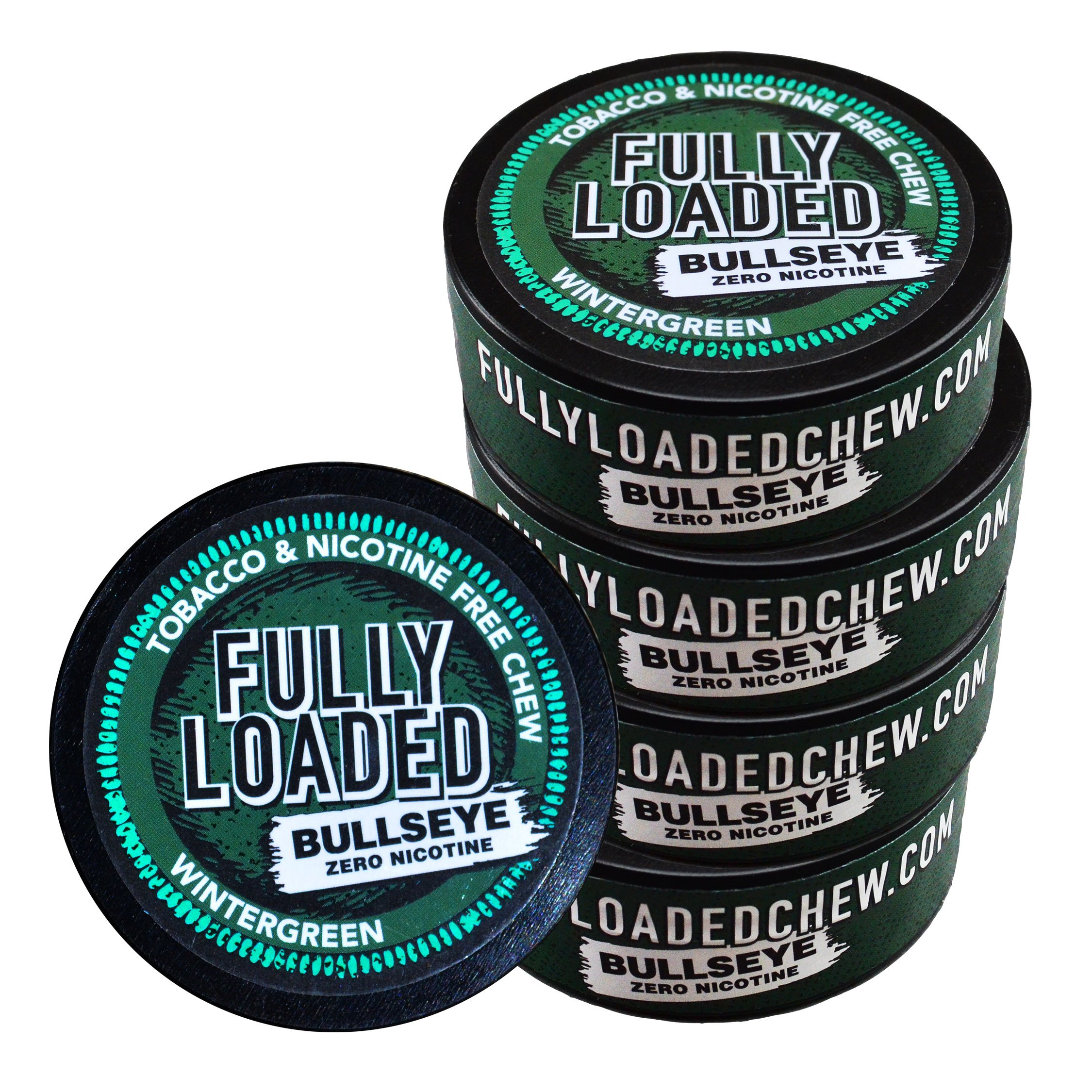 Fully Loaded Chew - 5 Pack - Tobacco and Nicotine Free Wintergreen Flavored Chew by Fully Loaded Chew