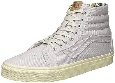 Vans UA Sk8-Hi Reissue DX, Sneakers Hautes Homme, Gris (Twill Wind Chime), 45 EU