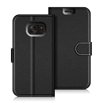 COODIO Funda Samsung Galaxy S7 Edge con Tapa, Funda Movil Samsung S7 Edge, Funda Libro Galaxy S7 Edge Carcasa Magnético Funda para Samsung Galaxy S7 ...