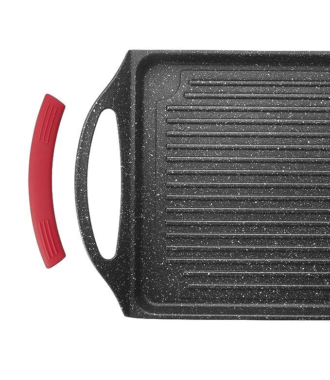 Lacor - 24135 - Plancha Grill Lisa Eco Piedra 34x26x6cm - Negro