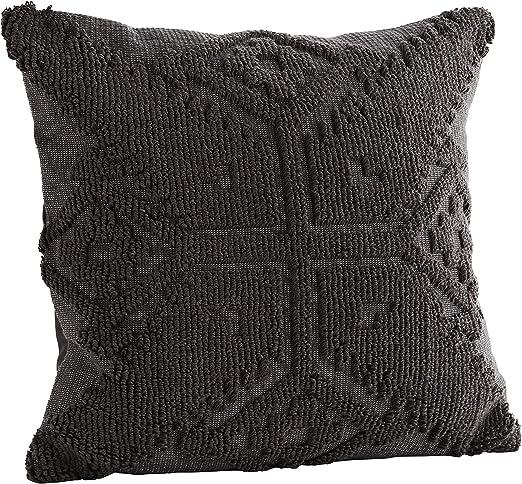Madam Stoltz - Funda de cojín (algodón, 45 x 45 cm), diseño Estampado, Color Gris Antracita, algodón, Antracita, 45 cm x 45 cm: Amazon.es: Hogar