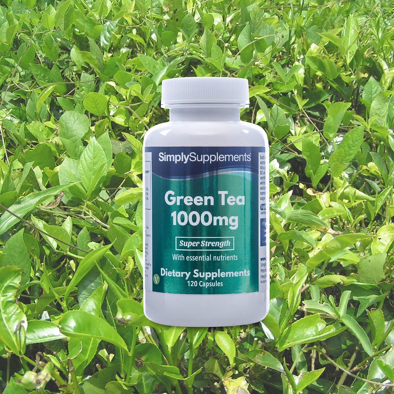 Té Verde 1000 mg - Favorece la pérdida de peso - 120 cápsulas - Hasta 40 días de suministro - SimplySupplements: Amazon.es: Salud y cuidado personal