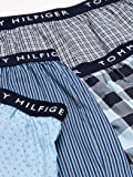 Tommy Hilfiger Men's Underwear Cotton Woven Boxers, Blue Multi (Multi 4 Pack), L