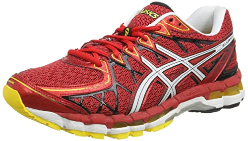 eedee68aa75e Asics Gel-Kayano 20 Men s Running Shoe Red White Size UK 10   Amazon ...