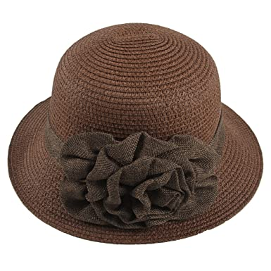 Sidiou Group Women Straw Bucket Hat Summer Sun Foldable Beach Caps  Fisherman Hat UV Protection with 5f66a673a0cf