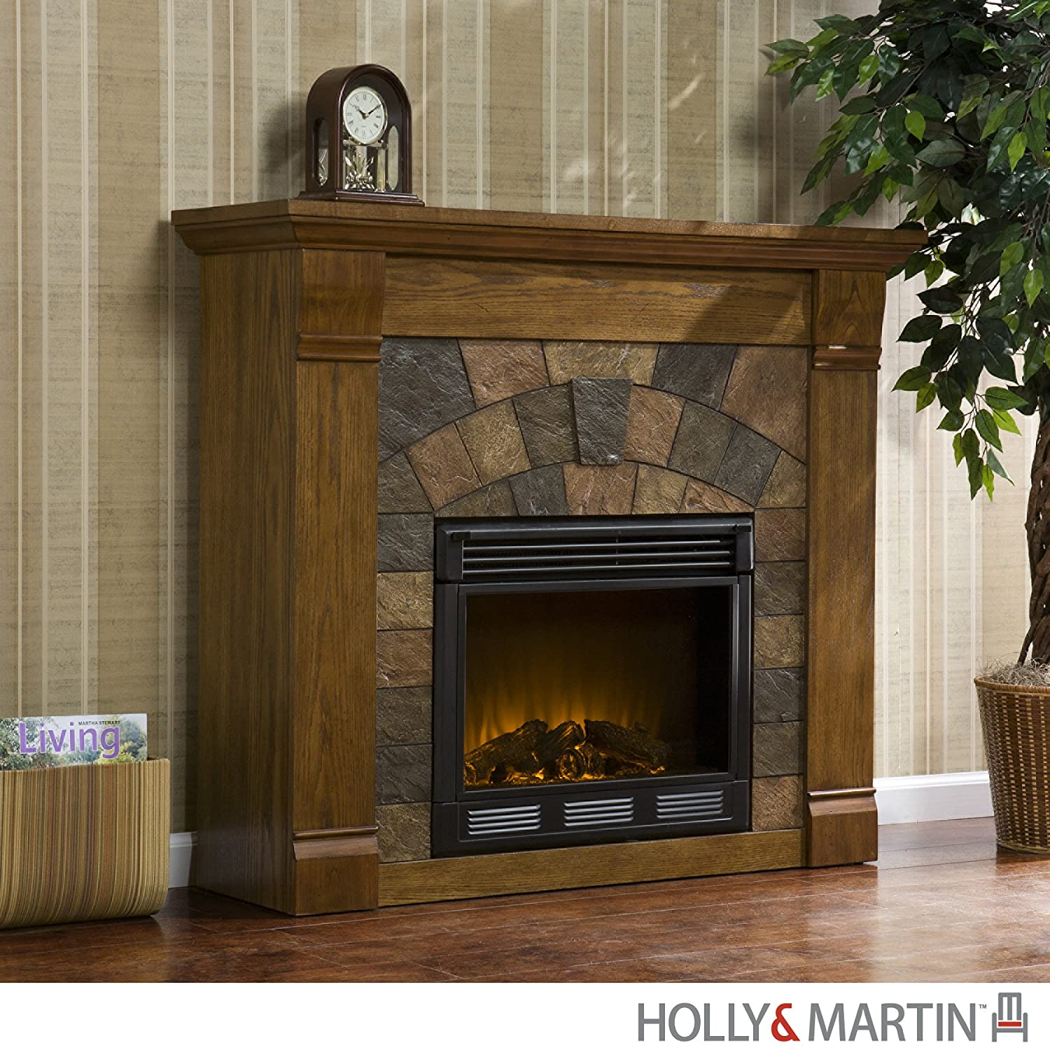 Holly & Martin Underwood Electric Fireplace Oak - Portable & Electric Fireplaces Amazon.com