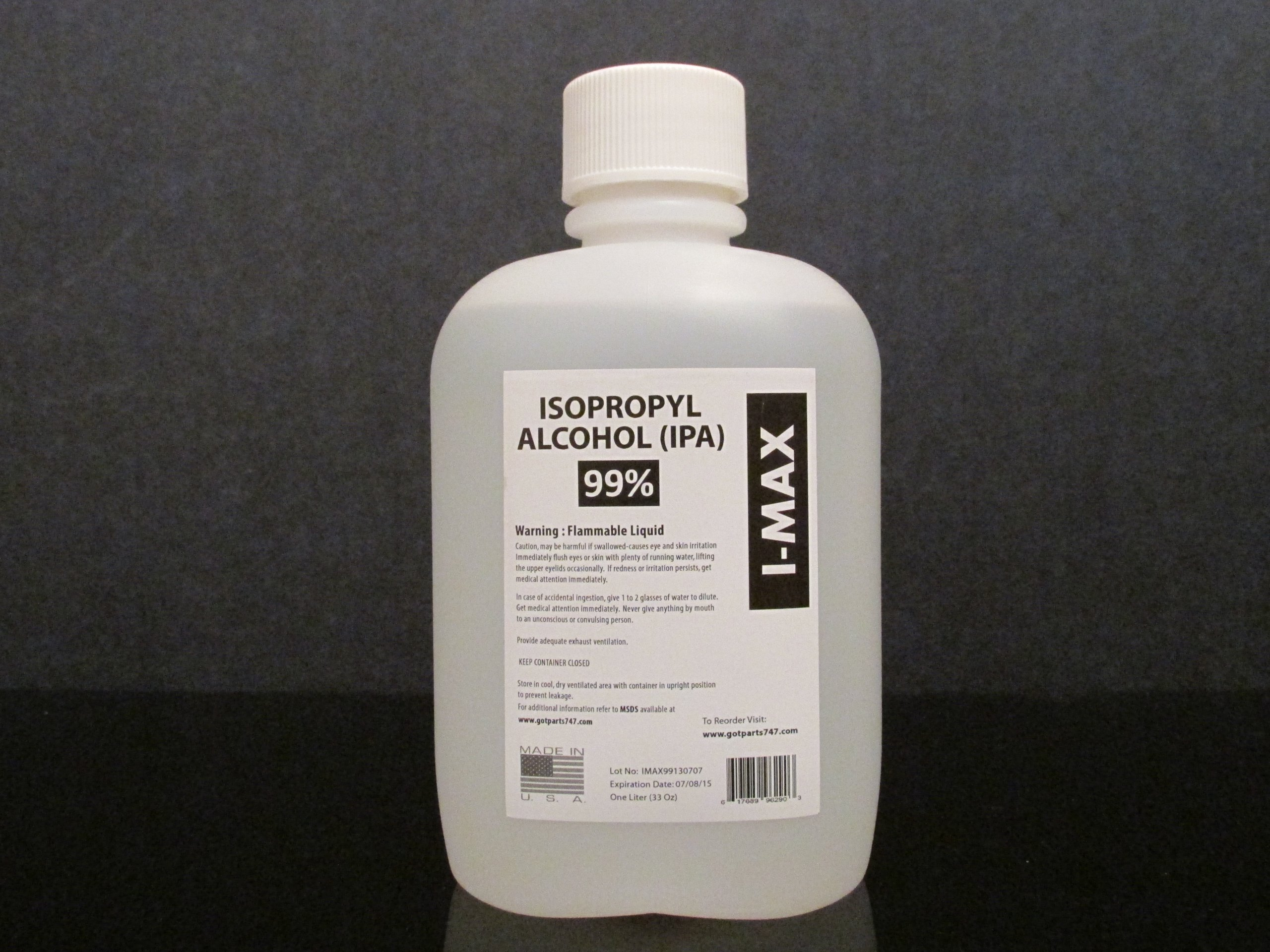 Isopropyl Alcohol > 99.5% - 1 Gallon (packaged & shipped in 4 X 1 liter bottles) by Imax (Image #1)