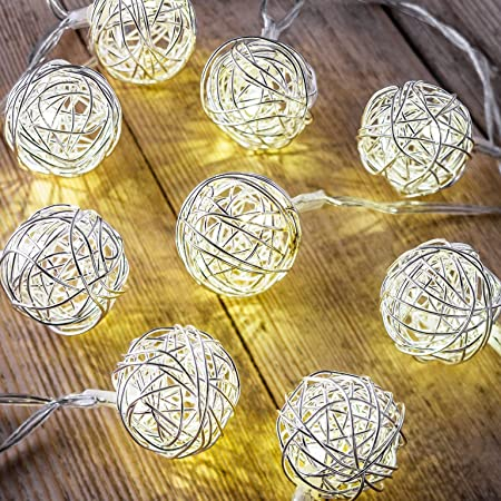Auraglow set of 12 battery operated 2 5m indoor string led fairy lights with warm white