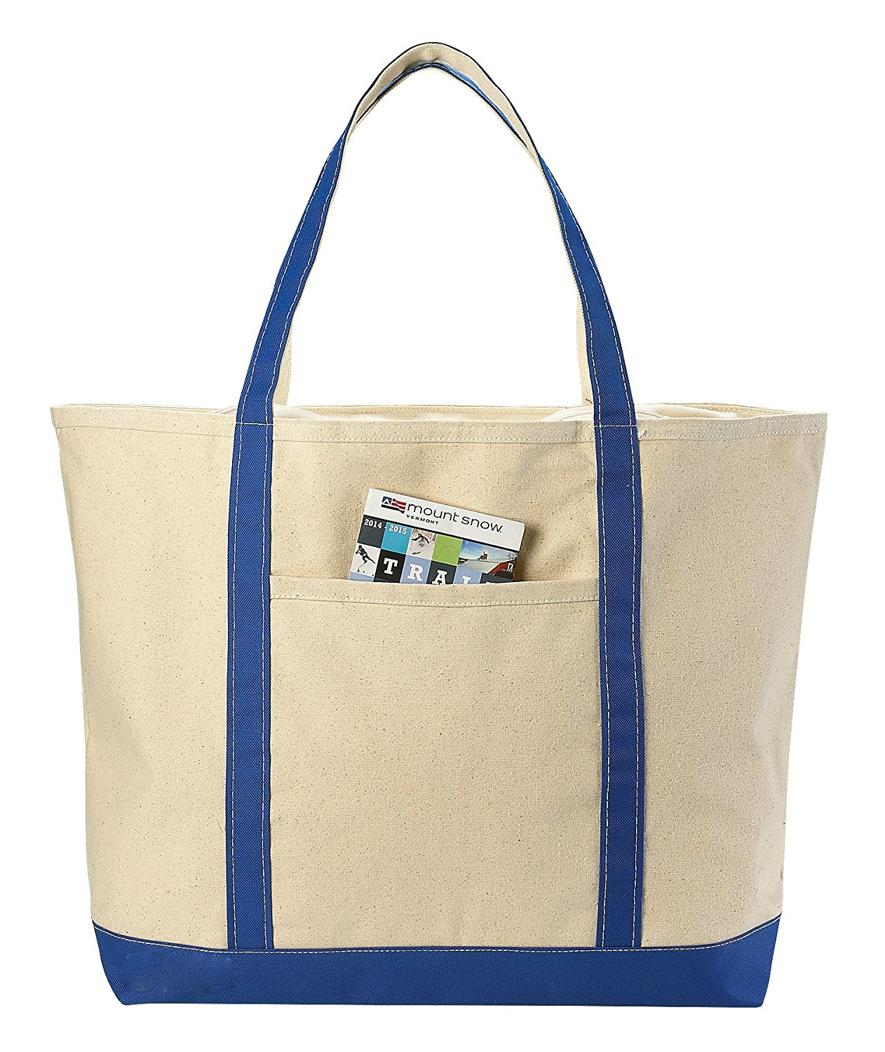 Canvas Tote Beach Bag, Assorted Colors - 22