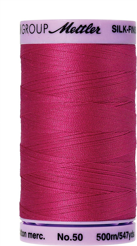 547yds Fuschia Silk-Finish 50wt Solid Cotton Thread