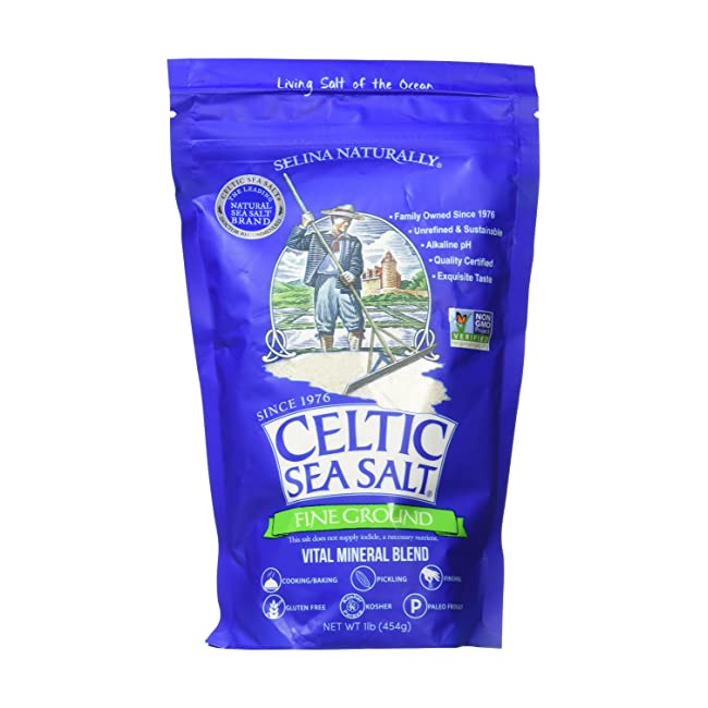 Fine Ground Celtic Sea Salt – (1) 16 Ounce Res...