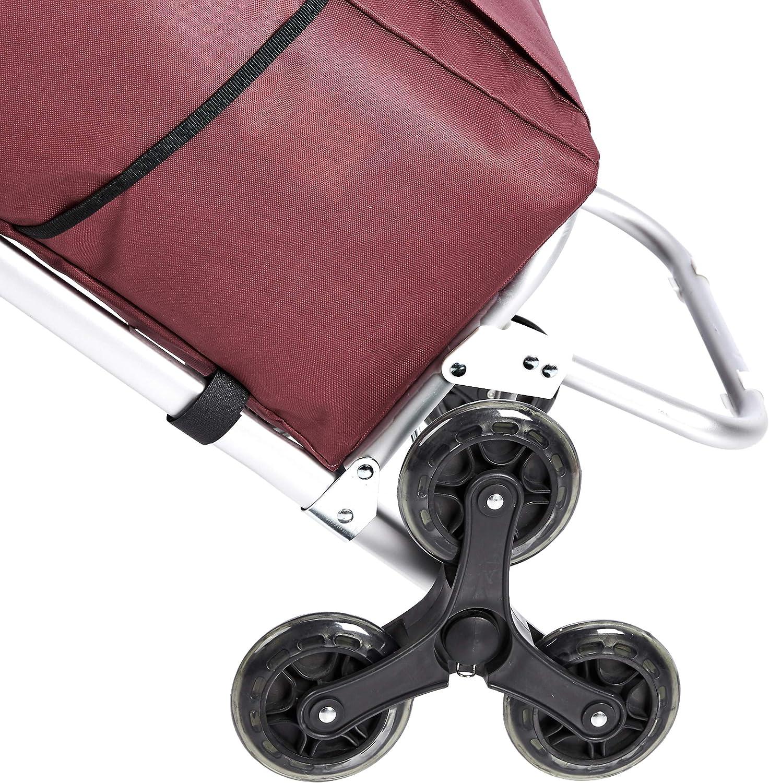 Patchwork Design 50 Litre Basics 3-Wheel Shopping Trolley with Aluminium Handles