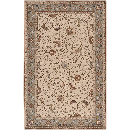 Surya Caesar CAE-1088 Classic Hand Tufted 100 Wool Dark Olive Green 4 x 6 Traditional Area Rug