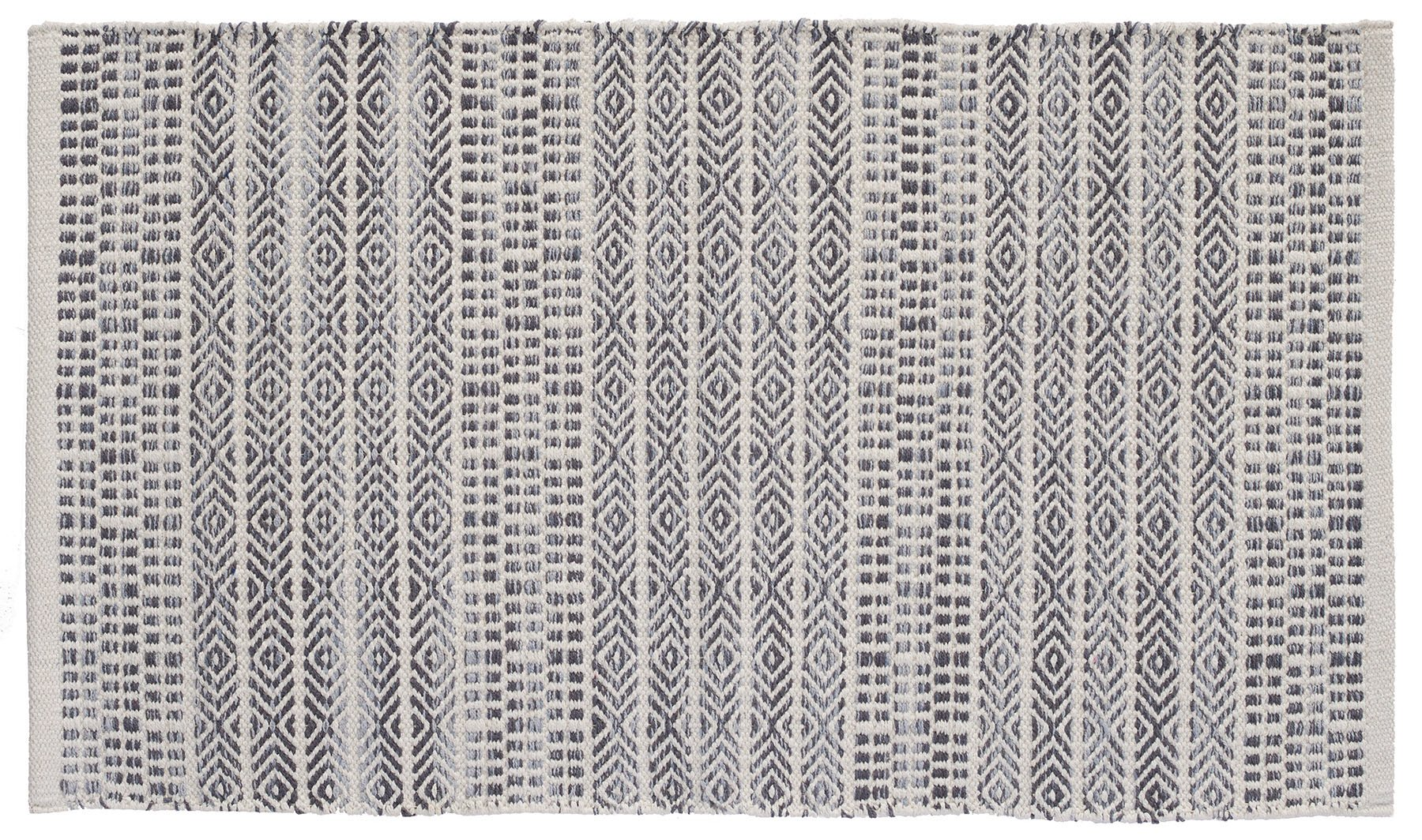 HF by LT Handwoven Sahara Jacquard Rug, 27'' x 45'', Natural and Grey by HOME FURNISHINGS BY LARRY TRAVERSO (Image #1)