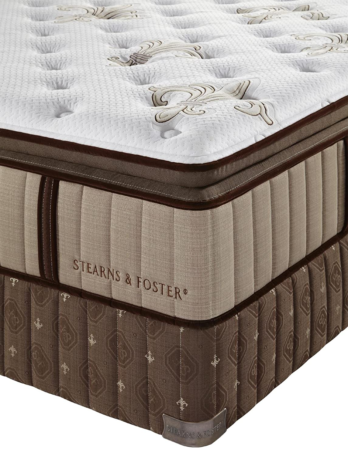 Amazon.com: Stearns And Foster Estate Luxury Plush Pillow Top Mattress(Queen):  Kitchen & Dining
