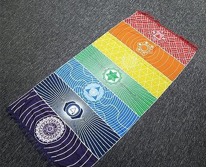 enipate pared Hanging india multicolor tapiz Mandala Bohemia manta  poliéster cuadrado Chakra manta para esterilla de 088ce357bbca