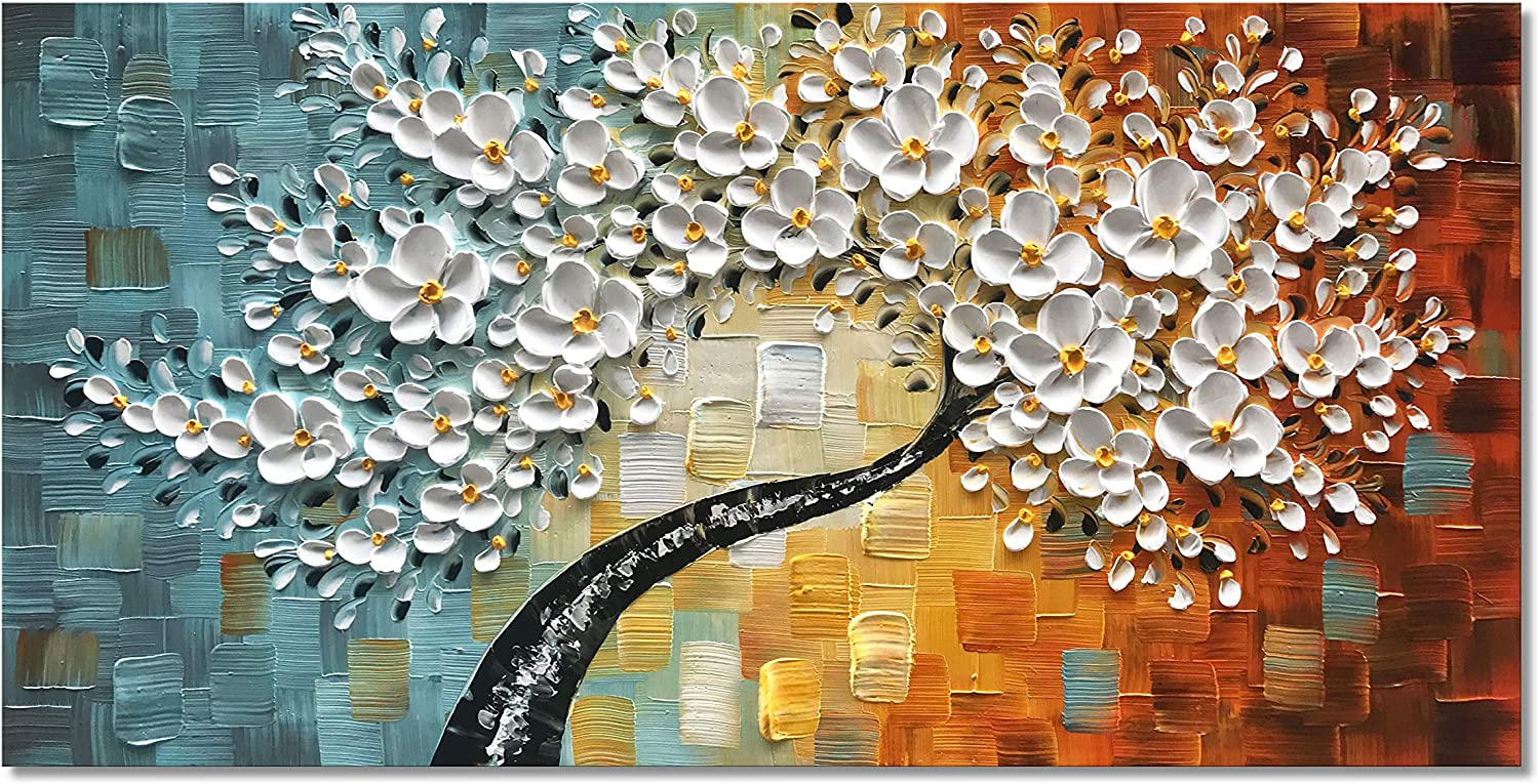Flower Tree Abstract Canvas Print Oil Painting Art Picture Wall Hanging Decor