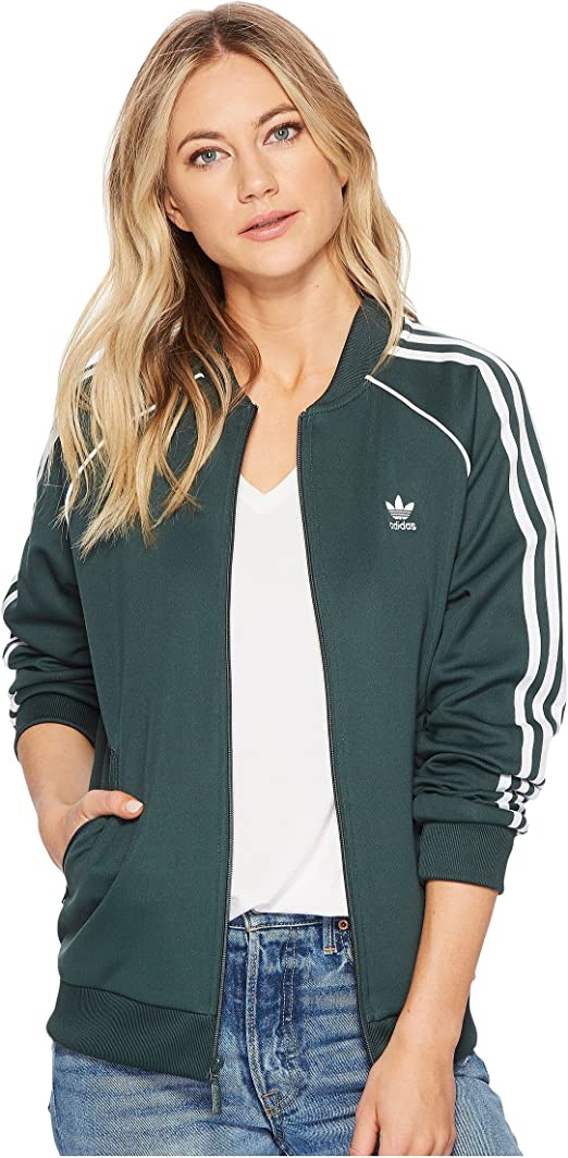 adidas Originals Women's SST Track Jacket Mineral Green X